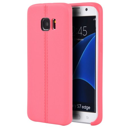 Look Cake - Samsung Galaxy S7 Edge Case, by Insten Slim Jacket Leather Look Finish TPU Rubber Skin Gel Case Cover For Samsung Galaxy S7 Edge