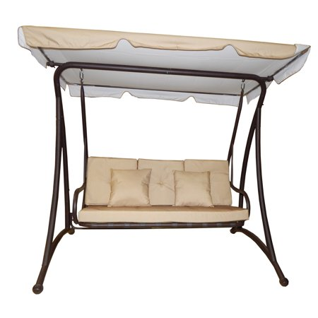Heavy Duty 3 Seat Outdoor Porch Swing with Stand