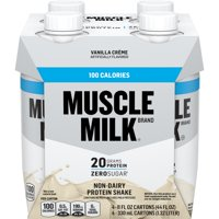 Muscle Milk 100 Calorie Protein Shake, 20g Protein, Vanilla Creme, 11 Fl Oz, 4 Count