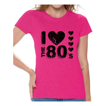 Awkward Styles I Love the 80s Shirt Black 80s Accessories 80s Rock T Shirt 80s T Shirt Retro Vintage Rock Concert T-Shirt 80s T Shirt for Women's 80s Costumes 80s Outfit for 80s Party - 80s Outfit Women