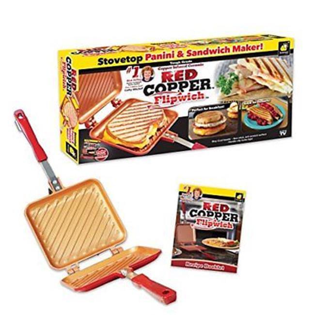 As Seen on TV Red Copper FlipWich Sandwich Maker