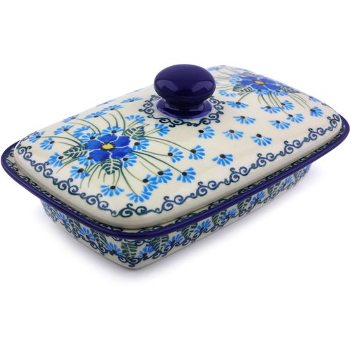Polmedia Forget Me Not Butter Dish
