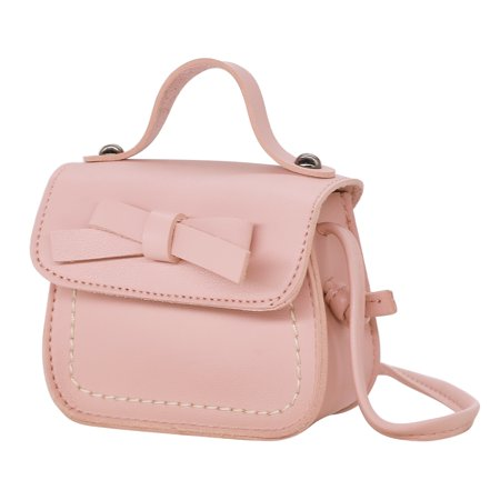 13518b3ac8 HDE - HDE Small Fashion Purse for Little Girls Light Pink Toddler Kids Bag  Cute Bow (Pink) - Walmart.com