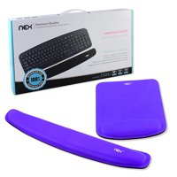 NEX Ergonomic Mouse Pad with Wrist Support, Memory Foam Keyboard Wrist Rest for Computer, Purple (NX-PAD005)