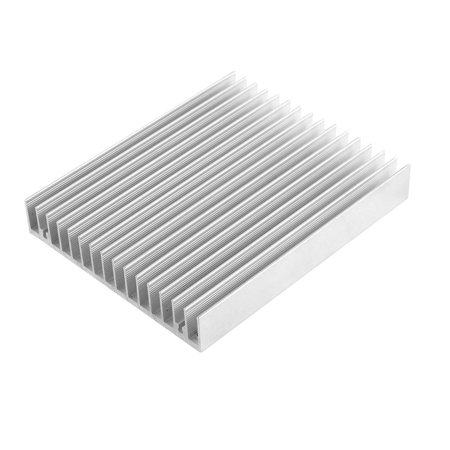 Silver Tone Aluminum Radiator Heat Sink Heatsink Cooling Fin 120 x 100 x 20mm