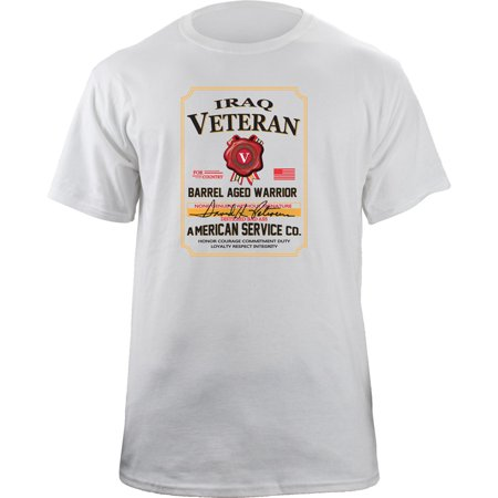 Iraq Campaign Veteran Barrel Aged Whiskey Label T-Shirt