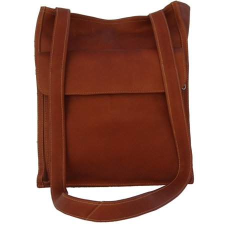 Piel Leather Shoulder Tote Organizer - Saddle