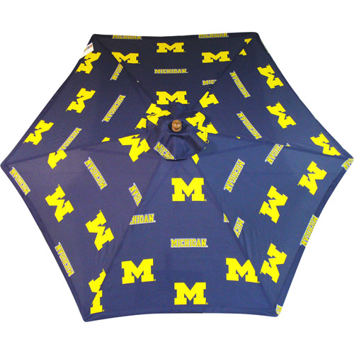 Michigan 9' Blue Market Umbrella