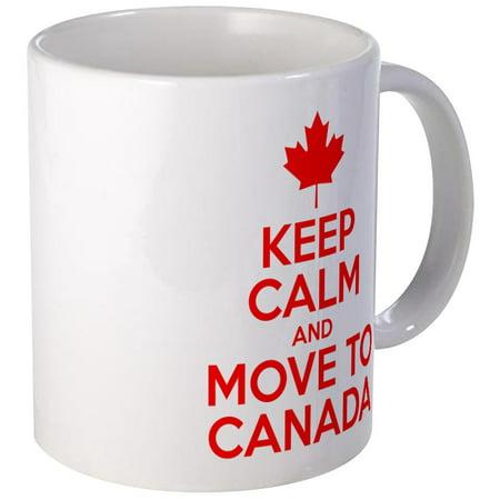 CafePress - Keep Calm And Move To Canada Mugs - Unique Coffee Mug, Coffee Cup