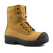 Tiger Safety CSA Men's Work Boots Leather Metal Free Composite Toe 6228