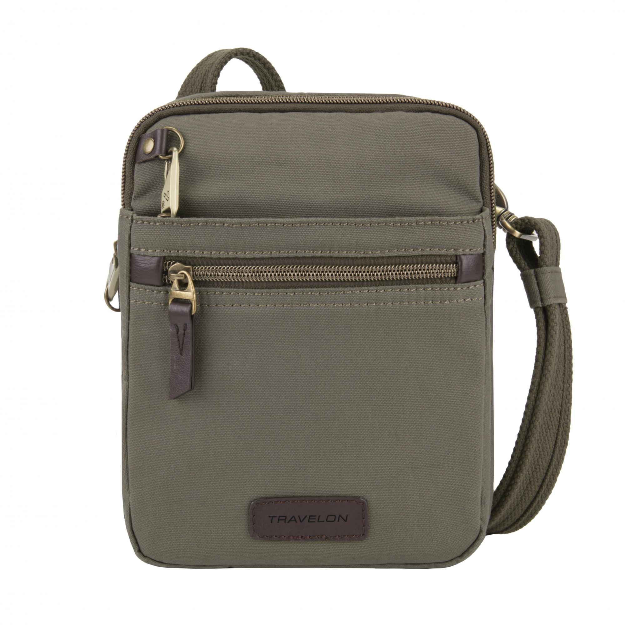 "Travelon Anti-Theft Courier Small North/South Slim Bag  8"" x 9"" x 2"""