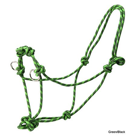 Basic Poly Side Pull Rope Training Halter Black
