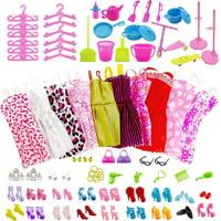 85Pcs Dolls Dresses Clothes Skirt Shoes For Barbie Doll Cute Toys Decor Gift 85Pcs