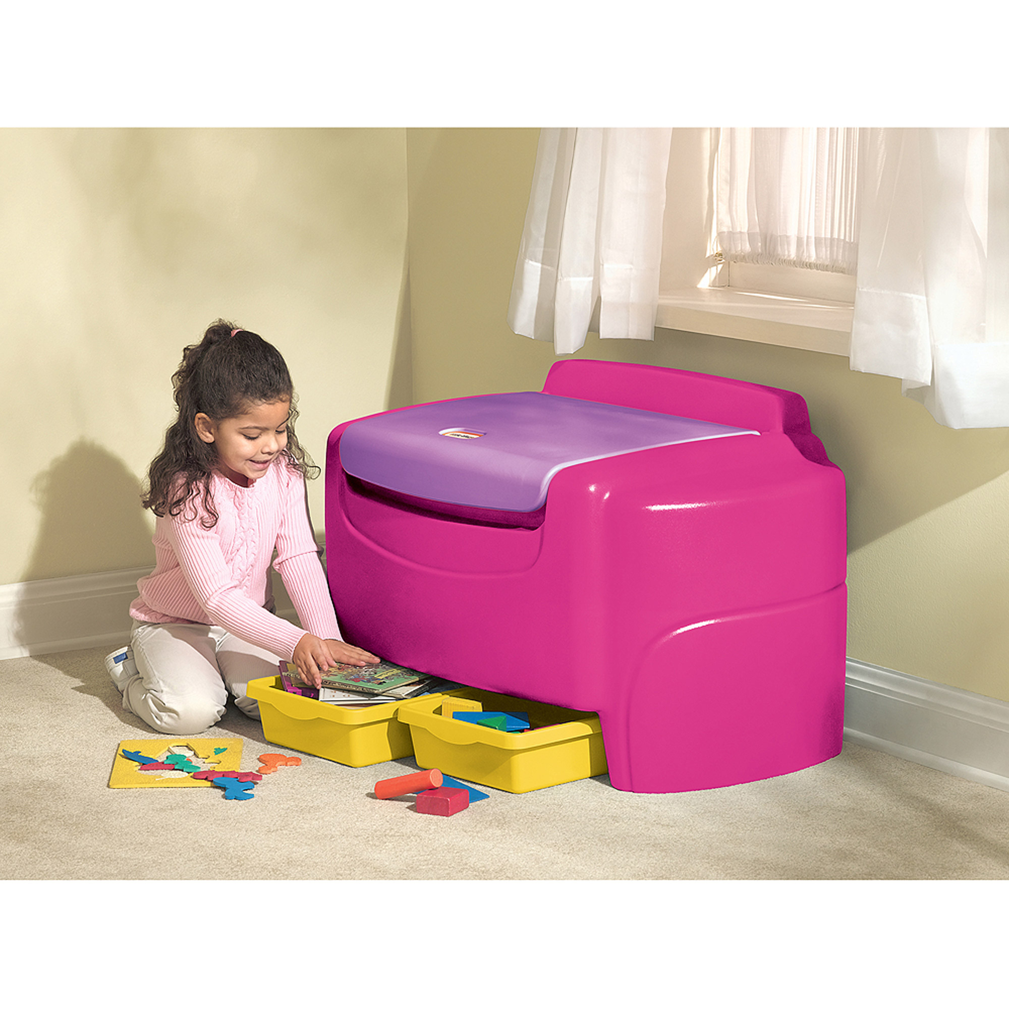 Little Tikes Sort N Store Toy Chest, Purple and Pink