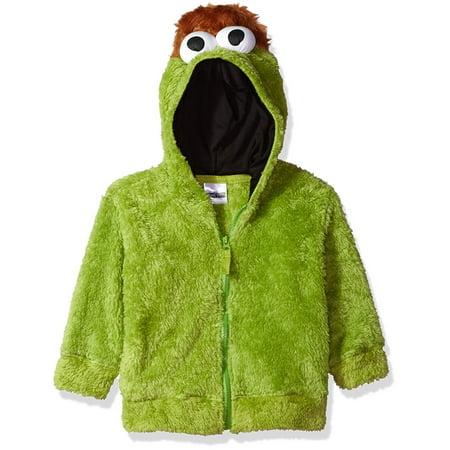 Sesame Street Boys' Fuzzy Costume Hoodie (Multiple Characters) - Sesame Street Purple Character