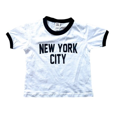 New York City Toddler John Lennon Ringer NYC Baby Tee Beatles T-shirt White (2T) ()