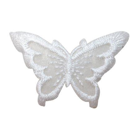 ID 2302C Lace Wings Butterfly Patch Fairy Garden Embroidered Iron On Applique