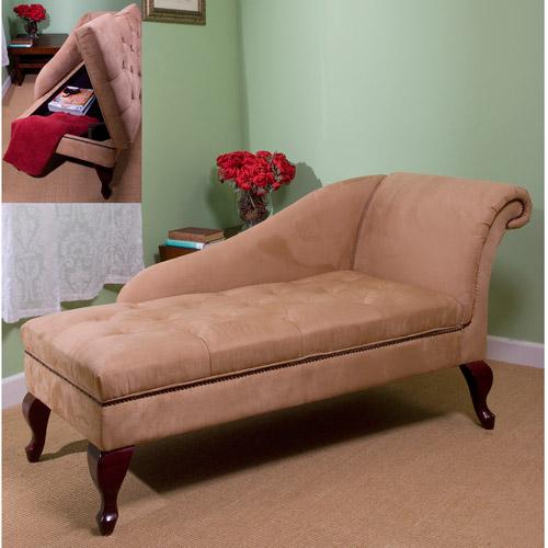 Storage Chaise, Tan (Box 1 of 2)
