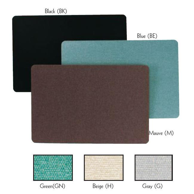 Aarco Products RF3648BK The Ritz Deco Series Fabric Bulletin Board - Black