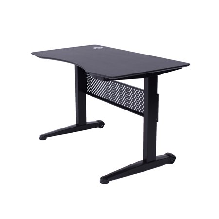 "ApexDesk AirDesk Series 47x27"" Movable Sit/Standing Desk, Pneumatic Height Adjustable from 29"" to 48"""