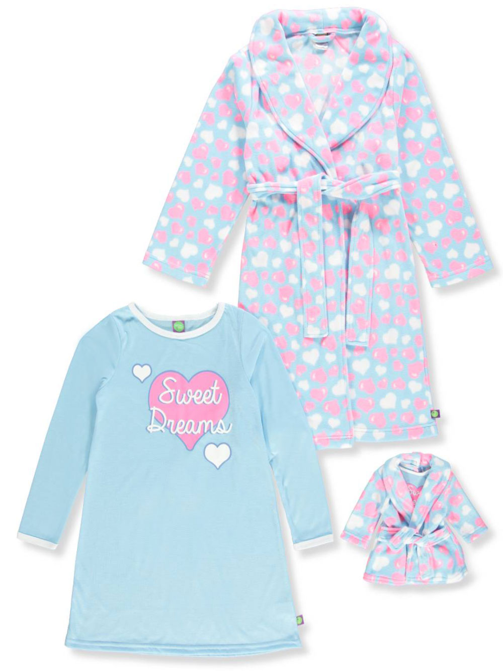 Dollie & Me Girls' 2-Piece Pajama Set with Doll Outfit