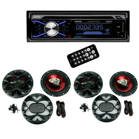 Boss 508UAB Dash CD Car Player USB/ MP3 Receiver Bluetooth + 4 6.5