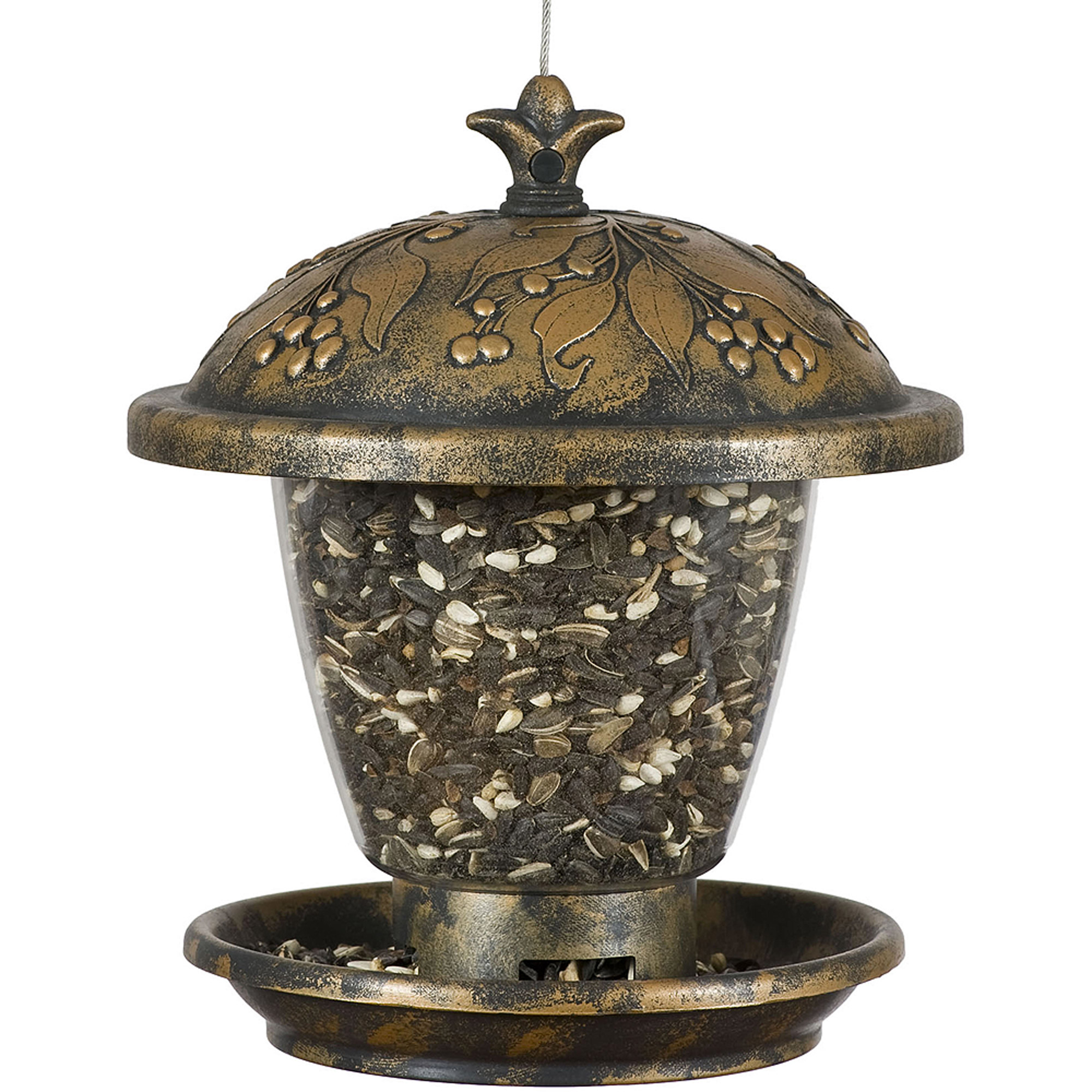 Perky-Pet Holly Berry Gilded Chalet Wild Birdfeeder by Perky-Pet