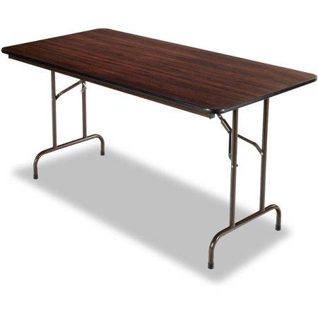 Alera folding table rectangular 60w x 30d x 29h walnut for Folding table 6 x 4