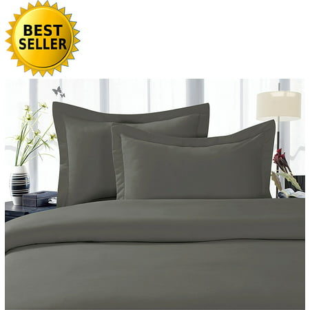 Celine Linen Best, Softest, Coziest Duvet Cover Ever! 1500 Thread Count Egyptian Quality Luxury Super Soft WRINKLE FREE 3-Piece Duvet Cover Set , King/Cali King, Grey Grey Duvet Set