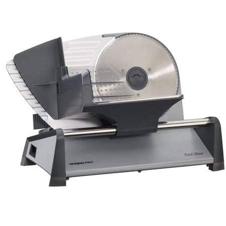 Waring Pro FS155AMZ Professional Food Slicer, Stainless Steel ()