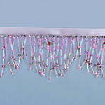 Expo Int'l Bugle and Seed Bead Fringe Trim Pack of 1 -