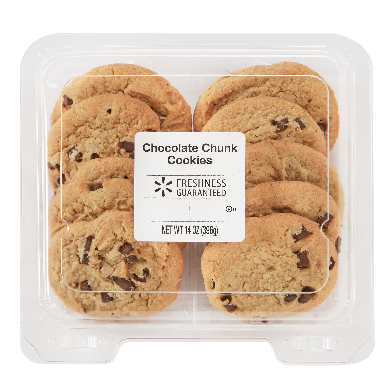 Freshness Guaranteed Chocolate Chunk Cookies 14 Oz 10 Count Walmart Com Walmart Com
