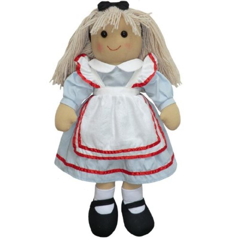 English Hand-Made Alice in Wonderland Rag Doll 40cm - Pow...