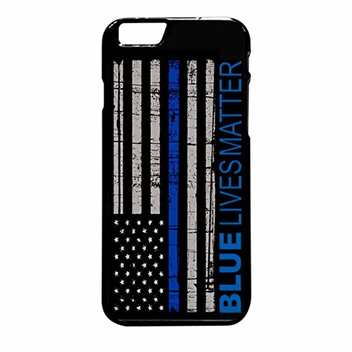 Ganma Blue Lives Matter Police Law EnCase Forcement Rubber Case For iPhone 6 Plus, 6S Plus (5.5inch screen)
