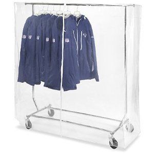 Collapsible Vinyl (Only Hangers Clear Vinyl Cover for Collapsible Clothing Rack)