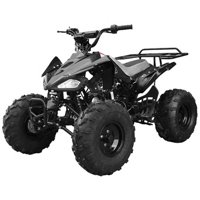 Youth 4-wheeler by FamilyGoKarts Black Cheetah ATV