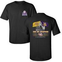 LSU Tigers 2019 SEC Football Champions Recap T-Shirt - Black