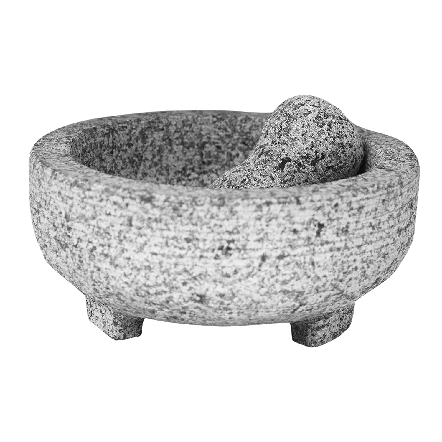 4-Cup Granite Molcajete Mortar and Pestle, Enjoy an authe...
