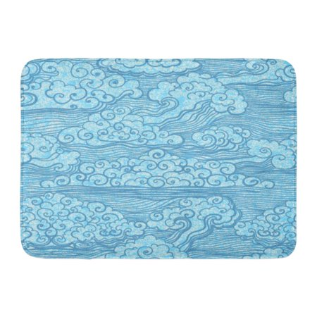 GODPOK Cute Japanese of Blue Sky with Clouds Abstract Grunge 10 Asian Rug Doormat Bath Mat 23.6x15.7 inch