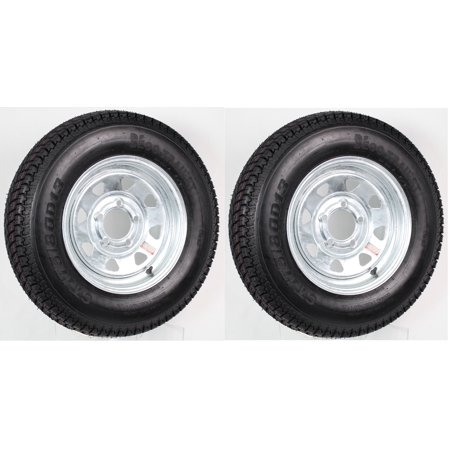 - 2-Pack Trailer Wheel & Tire #424 ST175/80D13 175/80 D 13