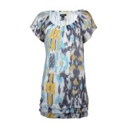 Alfani Women's Abstract Print Boat Neck Short Sleeve Blouse