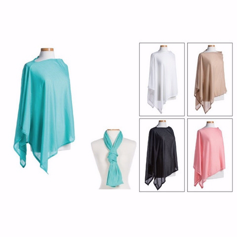 Scarf/Jersey/Poncho-Light Brown