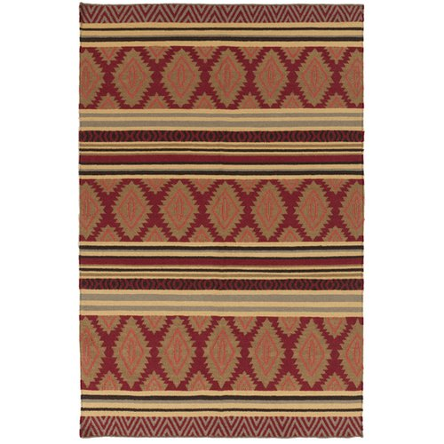 Surya Frontier Redwood/Pale Gold Geometric Area Rug