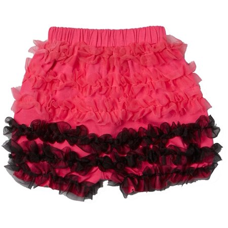 Wenchoice Hot Pink & Black Ruffle Bloomers Girl's S(1T-2T)