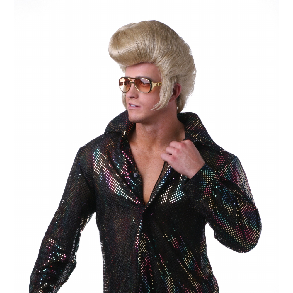 West Bay Sepia Costume New Elvis Style Synthetic Wig Blonde