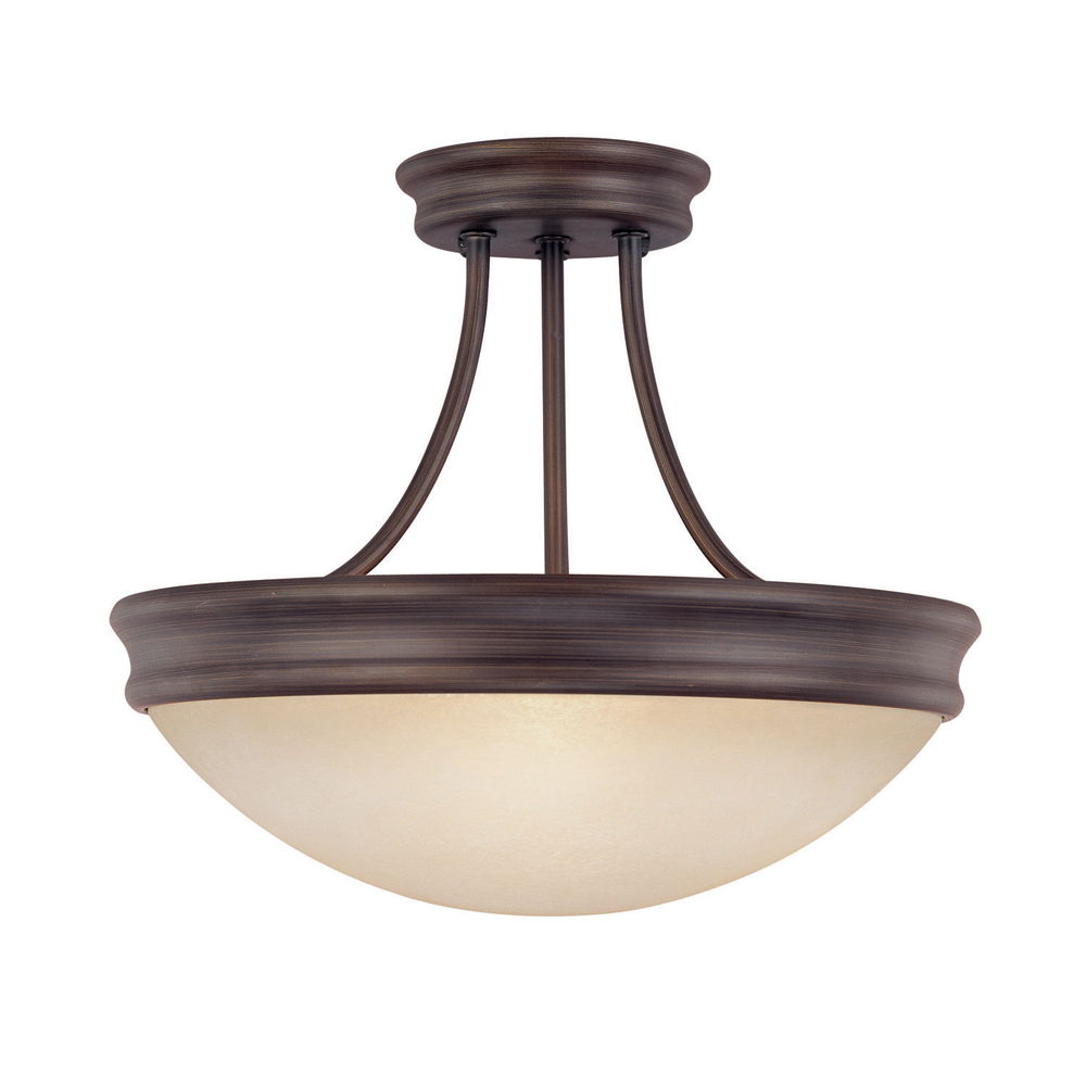 Capital Lighting  Oil Rubbed Bronze 3 Light Semi Flush Fixture