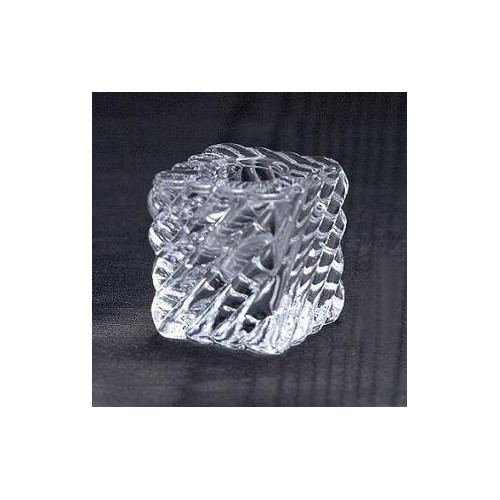 Biedermann and Sons Swirl Square Glass Candle Holder (Set of 6)