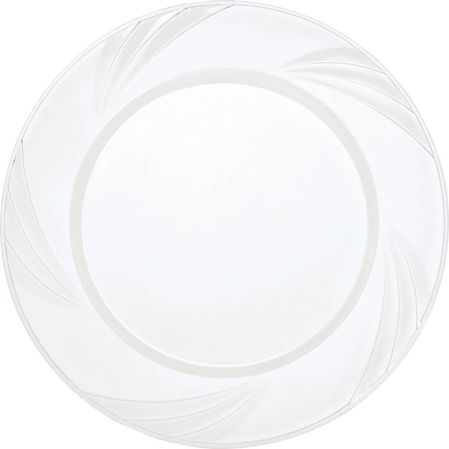Disposable Fancy Plastic Plates 7 in Clear 10ct  sc 1 st  Walmart & Disposable Fancy Plastic Plates 7 in Clear 10ct - Walmart.com