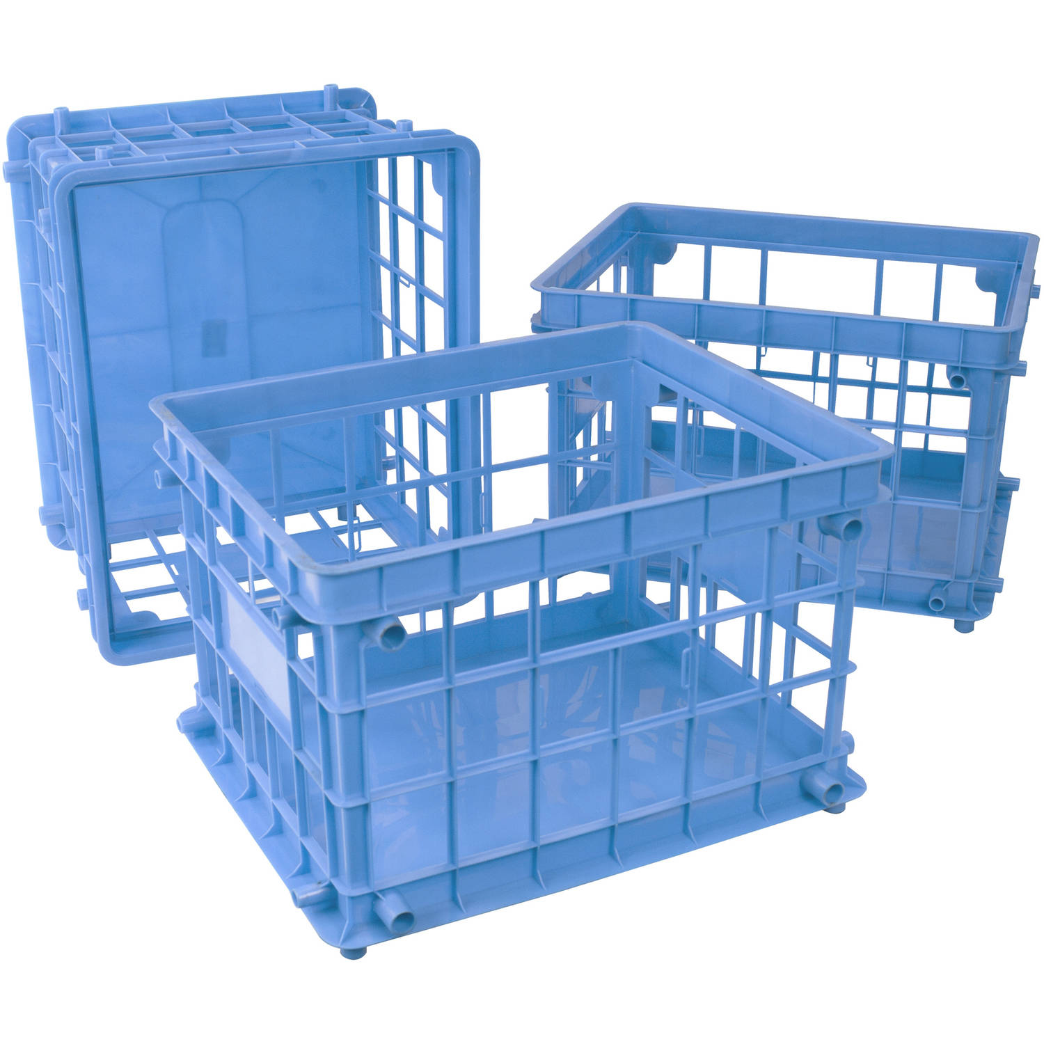 Storex Standard File Crate / Letter/Legal,Blue (3 units/pack)