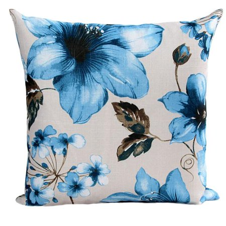 Flowers Pattern Sofa Bed Home Decor Pillow Case Cushion Cover BU ()